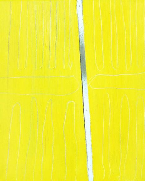 Doors/2018/oil, oil pastel and acrylic spray on canvas/65x81 cm