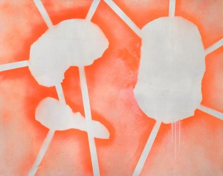 Under/2018/acrylic spray on canvas/110x140 cm